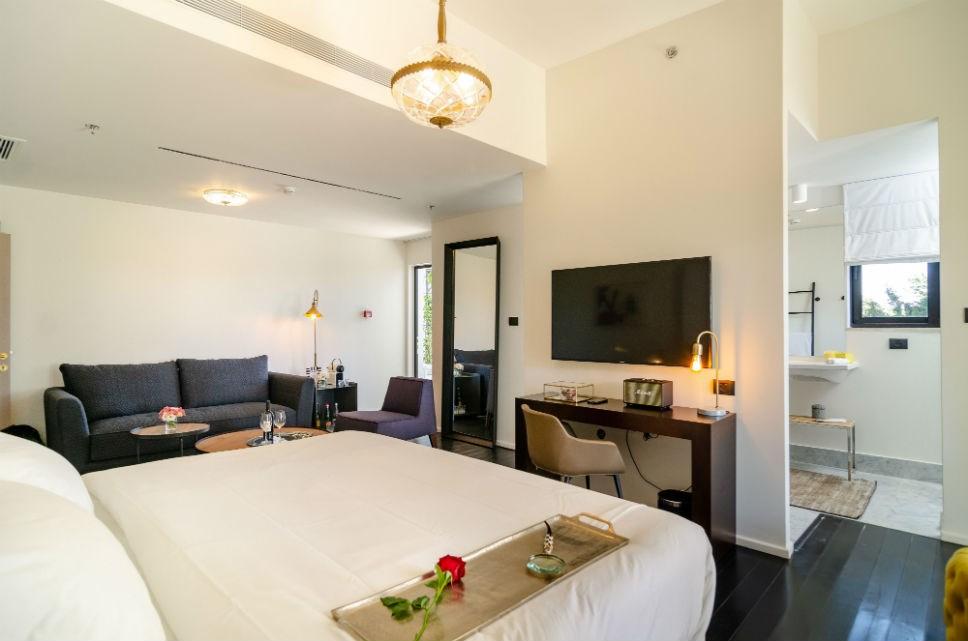 Open space in luxury loft room