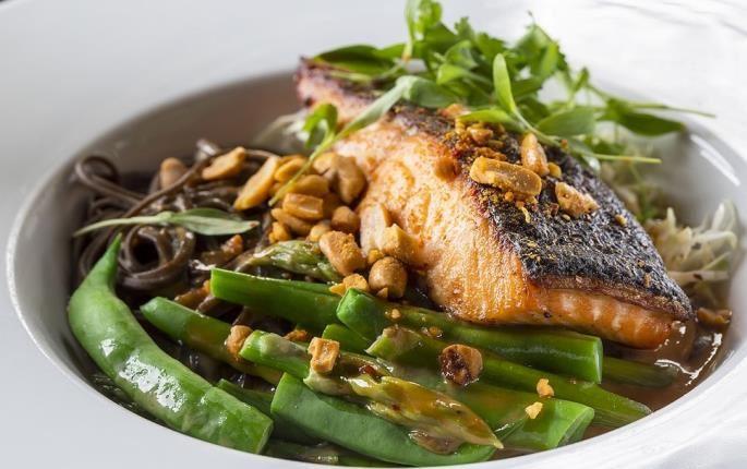 Asian salmon sata